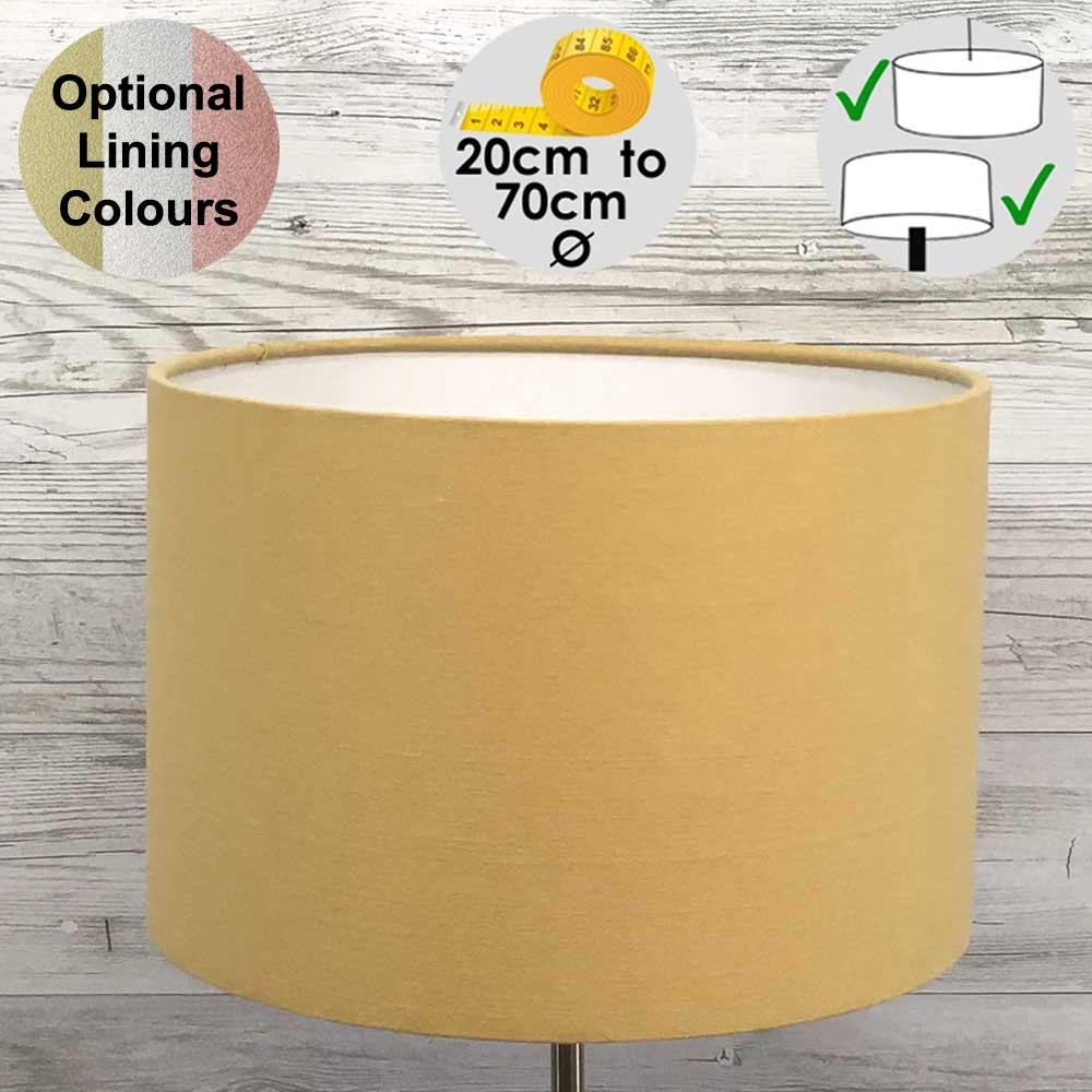 Aura Gold Drum Table Lampshade